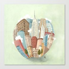 The Big Apple and I Canvas Print