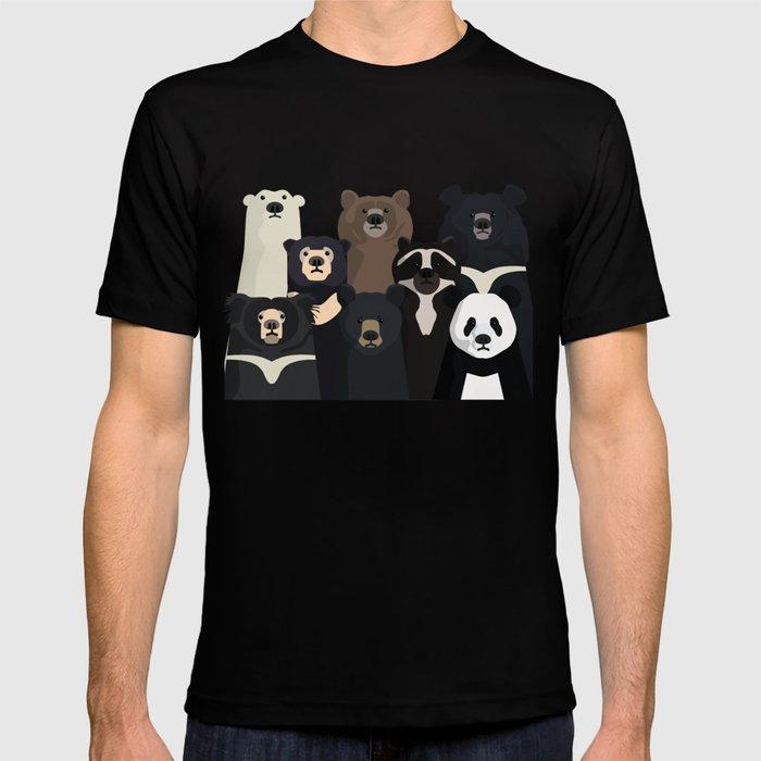 Bear family portrait T-shirt