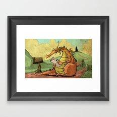 A Dragon's Trek  Framed Art Print