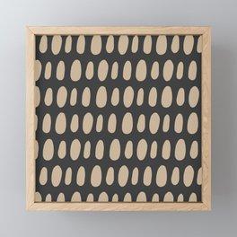 Brush Strokes Gold Framed Mini Art Print