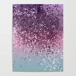Unicorn Girls Glitter #6 #shiny #pastel #decor #art #society6 Poster
