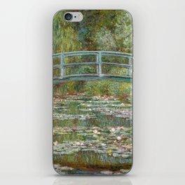 Monet, Water Lilies and Japanese Bridge, 1854 iPhone Skin