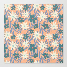 Just Peachy Floral Canvas Print