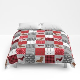 Doxie Quilt - duvet cover, dog blanket, doxie blanket, dog bedding, dachshund bedding, dachshund Comforters