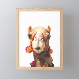 Camel Portrait Framed Mini Art Print