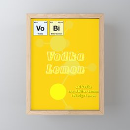 Vodca Lemon Framed Mini Art Print