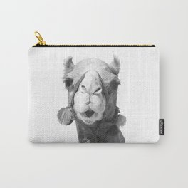 Black and White Camel Portrait Carry-All Pouch