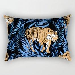 Tiger and leaf pattern Rectangular Pillow