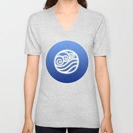 Avatar Water Bending Element Symbol Unisex V-Neck