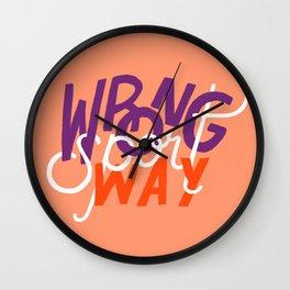 Wrong Way, Sport Wall Clock