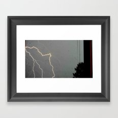 A Spark of Lightning Framed Art Print