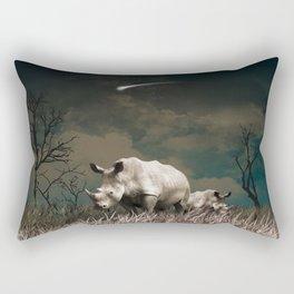 Rhino star Rectangular Pillow