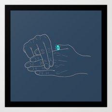 Real Finger Trick Art Print
