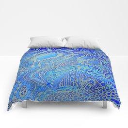 Blue pattern Comforters