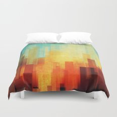 Urban sunset Duvet Cover