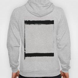 Square Strokes Black on White Hoody