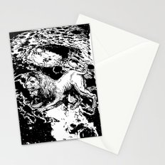 Moon Lion Stationery Cards