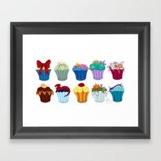 The Princess Cupcake Collection  Framed Art Print