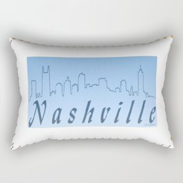 Nashville Skyline Blue Rectangular Pillow