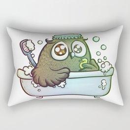 owl in bath Rectangular Pillow