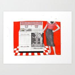 Red Hot Kitchen Art Print