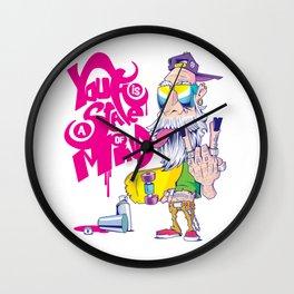 Old man Skater Wall Clock