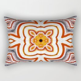 India Print Two Rectangular Pillow