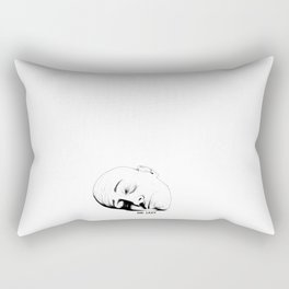 Mr. Lazy Rectangular Pillow