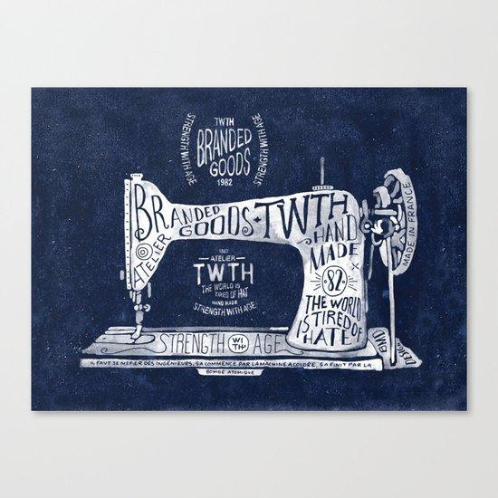 TWTH sewing machine Canvas Print