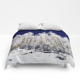 Winter Aspens Comforters