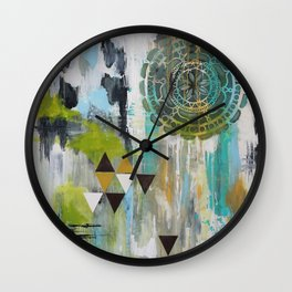 Mindful Past Wall Clock