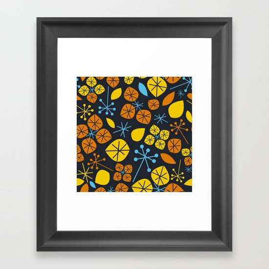 Leaf Scatters Framed Art Print