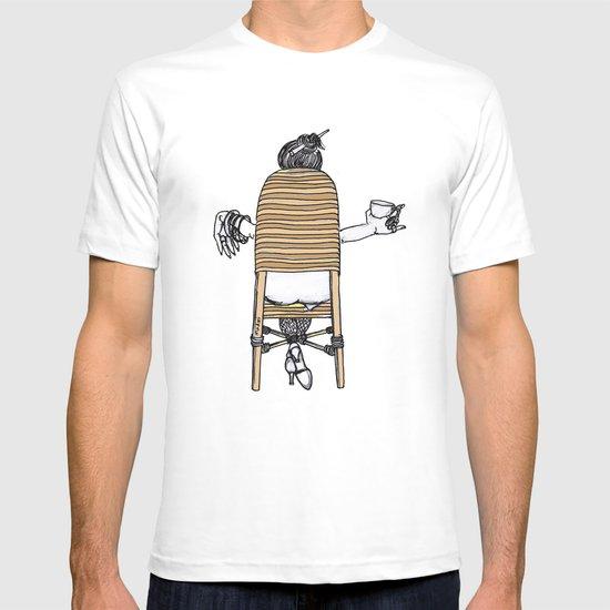 a lady's portrait T-shirt