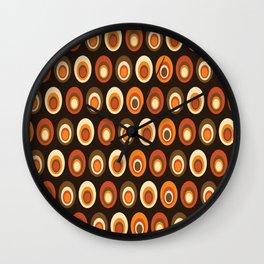 Retro Egg Pattern Wall Clock