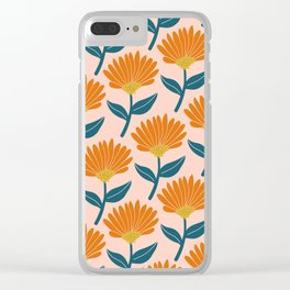 Floral_pattern Clear iPhone Case
