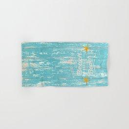 Happy Beach Life- Saying on aqua wood Hand & Bath Towel