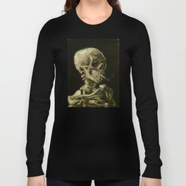 Vincent van Gogh - Skull of a Skeleton with Burning Cigarette Langarmshirt