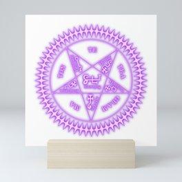 Sebastian Michaelis Sigil Light (white bg) Mini Art Print
