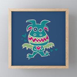 Little Monster Framed Mini Art Print