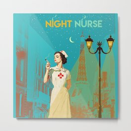 NIGHT NURSE Metal Print