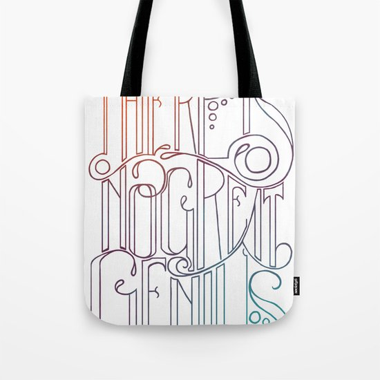 There is no Great Genius Without a Touch of Madness - Seneca Quote Part 1 Tote Bag