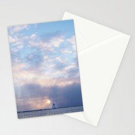Sunset in Grand Marais, North Shore, Lake Superior, Minnesota Stationery Cards