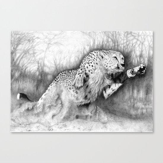 """In Pursuit"" (Cheetah) Canvas Print"