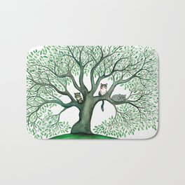 Cheri Whimsical Cats in Tree Bath Mat