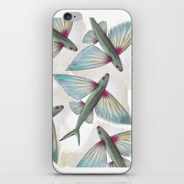 flying fish iPhone Skin