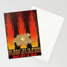 Plakat die welt ist in brand erschwere Stationery Cards