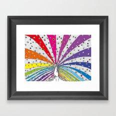 Rainbow-Peacock Framed Art Print