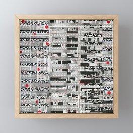 Opportunistic Species (P/D3 Glitch Collage Studies) Framed Mini Art Print