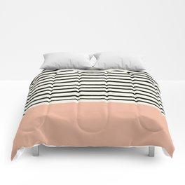 Peach x Stripes Comforters