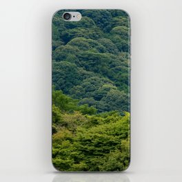 Japanese forest temple iPhone Skin